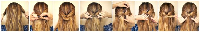 hair bow hairstyle tutorial steps