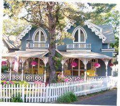 Blue Methodist Camp Cottage, Oak Bluffs, Martha's Vineyard