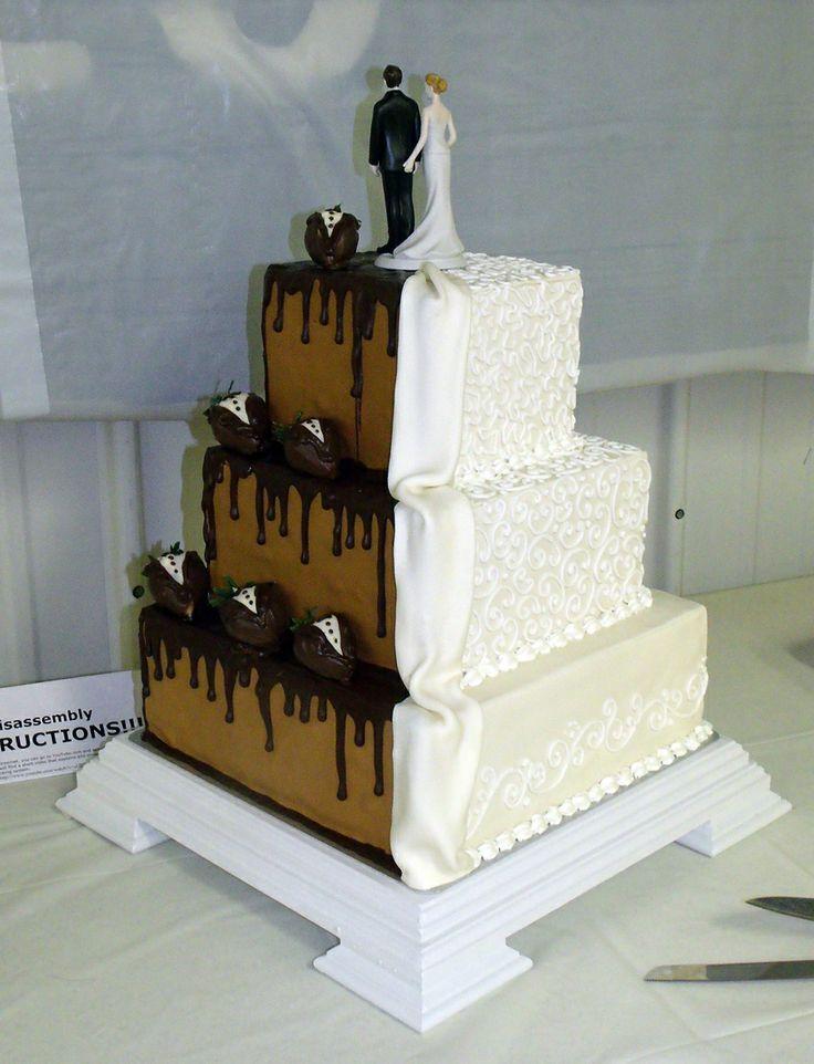 half and half  Wedding Cakes | half-chocolate-half-white-wedding-cake.jpg