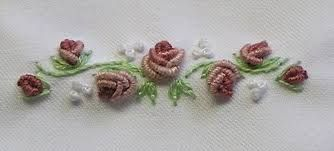 Image result for french knot small rose