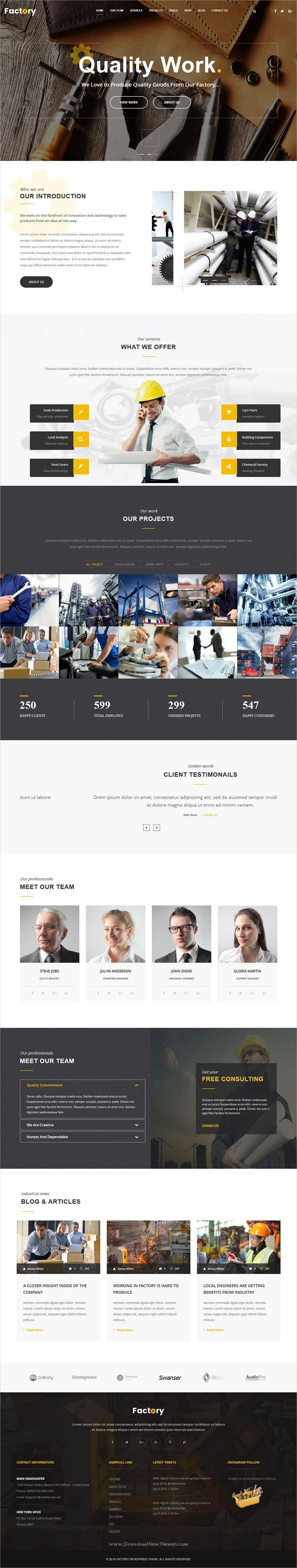 Industrial is clean and modern design responsive #HTML bootstrap template for #factory, industry and #construction companies website download now ➩ https://themeforest.net/item/industrial-factory-industry-construction-html-template/19753291?ref=Datasata