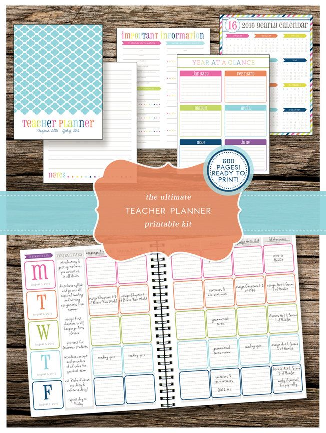 teachers planning calendar - Romeolandinez
