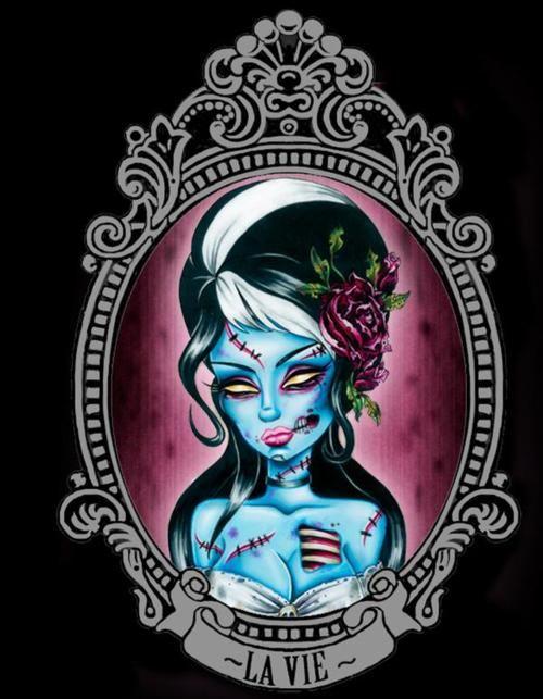 Blue Zombie Girl Cameo