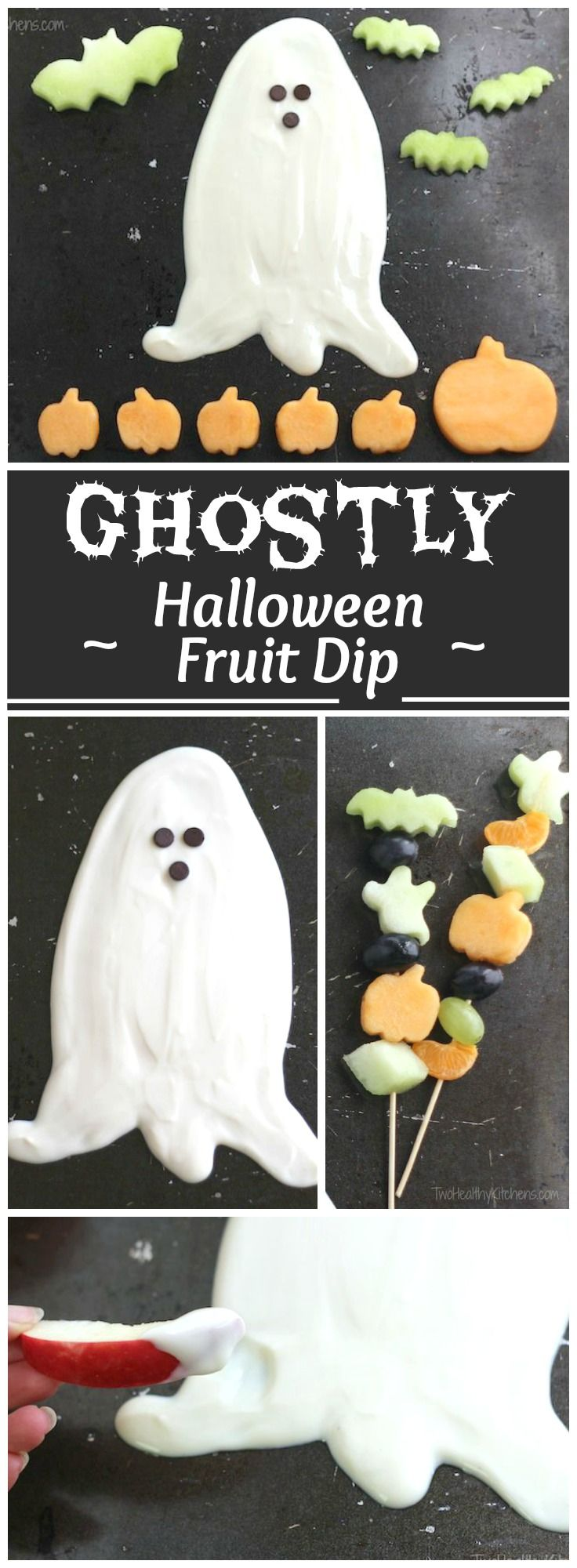 Food faith amp design thanksgiving goodies - Ghostly Halloween Fruit Dip Yet Another Healthy Halloween Treat