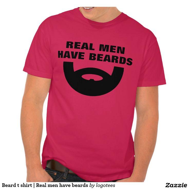 T-shirt | van de baard Echt man heeft baarden