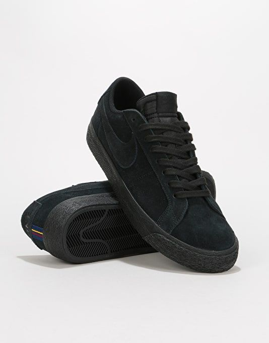 huge discount dce38 aa5ac Nike SB Zoom Blazer Low Skate Shoes - Black/Black-Gunsmoke ...