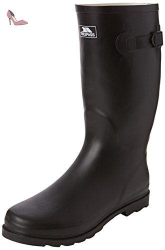 Trespass Recon X, Bottes et Bottines de Pluie Homme, Noir (Black), 42 EU - Chaussures trespass (*Partner-Link)