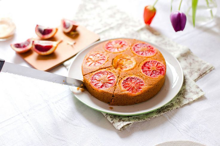 Blood Orange Polenta Cake | Elsa Brobbey