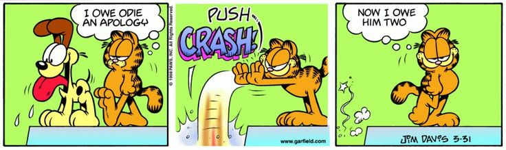 Garfield & Friends | The Garfield Daily Comic Strip for March 31st, 1998