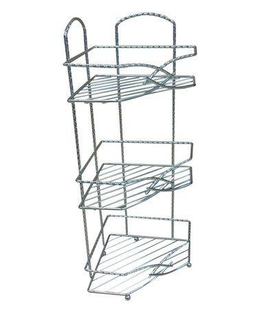 Look at this #zulilyfind! Three-Tier Chrome Corner Rack #zulilyfinds