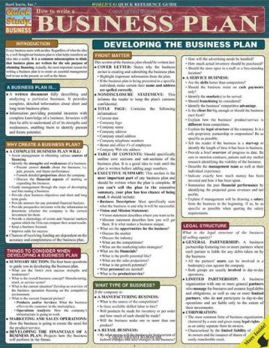 How To Write A Business Plan (Quick Study Business) by Inc. BarCharts,http://www.amazon.com/dp/1572228113/ref=cm_sw_r_pi_dp_VeKwtb036P6S1ZNY