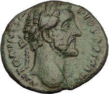 Antoninus Pius Marcus Aurelius Father Big Ancient Roman Coin Forethought i53942
