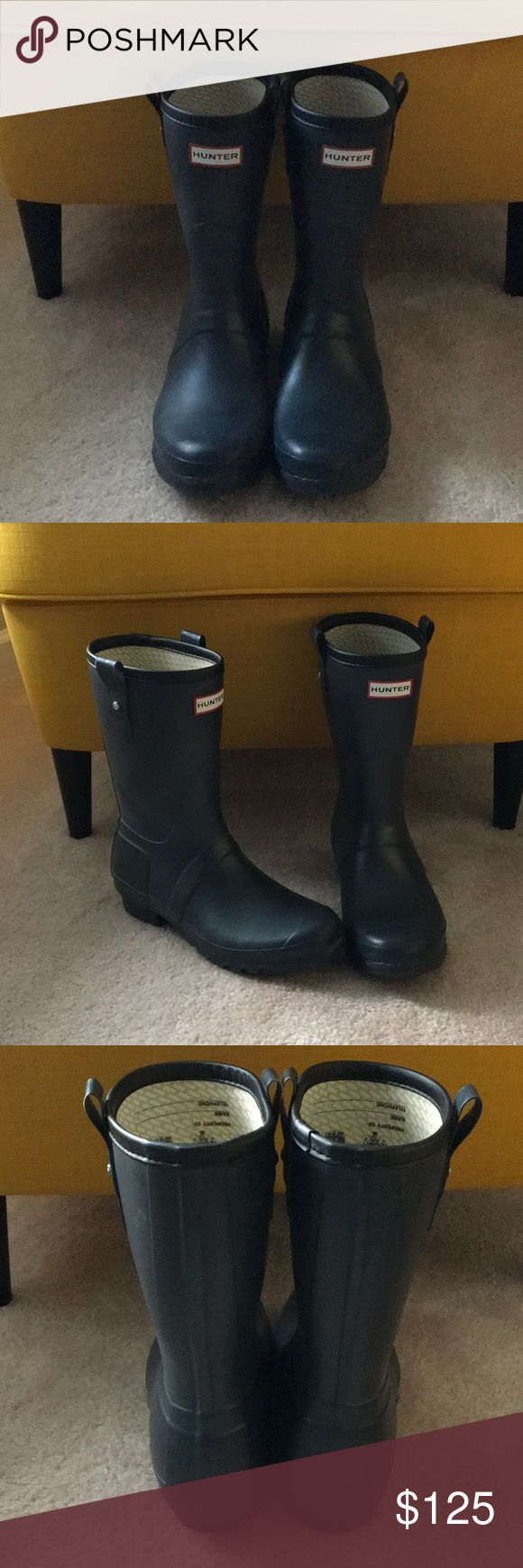 Hunter Rain Boots EUC, needs wiped off, other than that only minor wear. Men's 9 short. (Can fit a women's 10) Hunter Boots Shoes Rain & Snow Boots