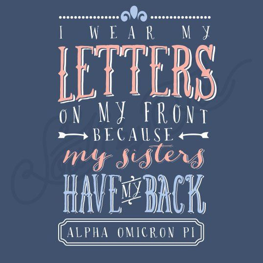 Sorority Social Alpha Omicron Pi Typography South By Sea