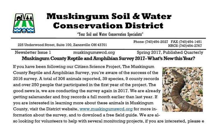 New Items at Muskingum SWCD – Muskingum Soil and Water Conservation District