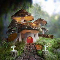 Fairy-Tale Mushroom House