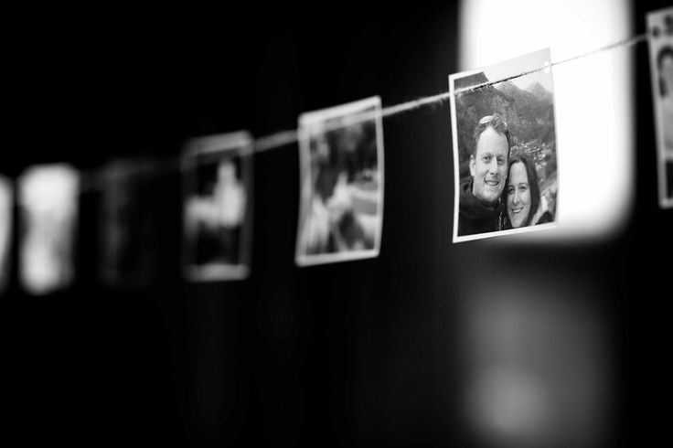 Photographic bunting from Claire & Oli's Austrian themed wedding SMP Weddings: Sussex based female wedding photographer. Photojournalist creating highly atmospheric images which burst with personality and emotion