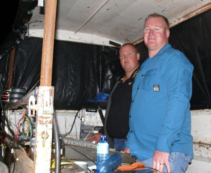 Our sound team hard at work.