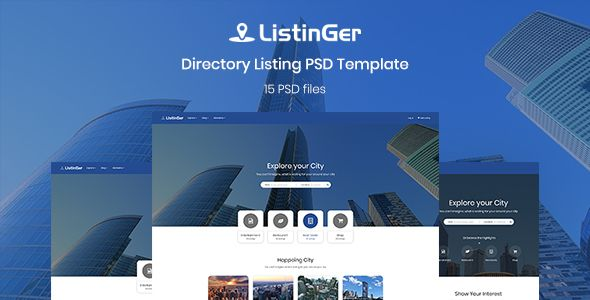 ListinGer - Directory Listing Template - Corporate PSD Templates Download here : https://themeforest.net/item/listinger-directory-listing-template/20543411?s_rank=104&ref=Al-fatih