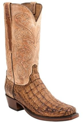 "georgetowncowboyboots -  Lucchese Since 1883 Heritage Hornback Tan Caiman Boots ""Brett"" H1017, $825.95 (http://www.georgetowncowboyboots.com/lucchese-since-1883-heritage-hornback-tan-caiman-boots-brett-h1017/)"
