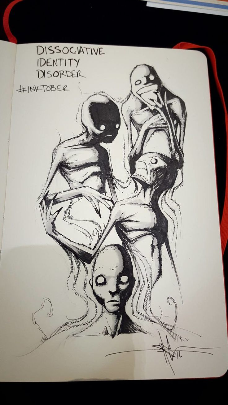 Dissociative Identity Disorder http://greatist.com/live/striking-illustrations-represent-different-types-of-mental-illness