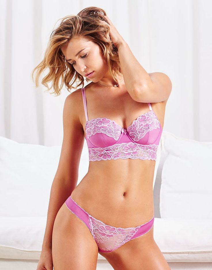 Purple Balconette Bra Odette