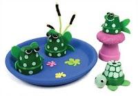 Clay pot pond scene!  Cute!