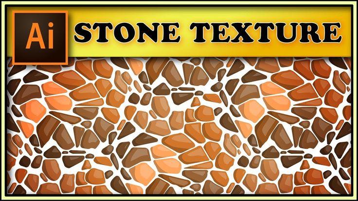 Stone, pebbles seamless texture - Adobe Illustrator tutorial