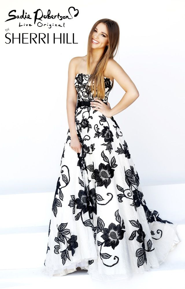 Sadie Robertson's Prom Dress - Sherri Hill - Dresses. She has her own prom dress line and they are gorgeous