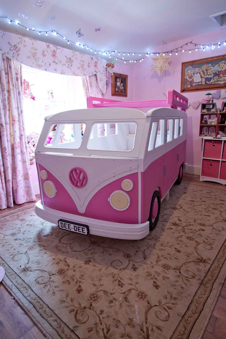 VW Camper Van Theme Bed  by Fun Furniture Collection, Home of Themed Childrens Beds,Toy Boxes and Storage. Visit www.funfruniturecollection.co.uk