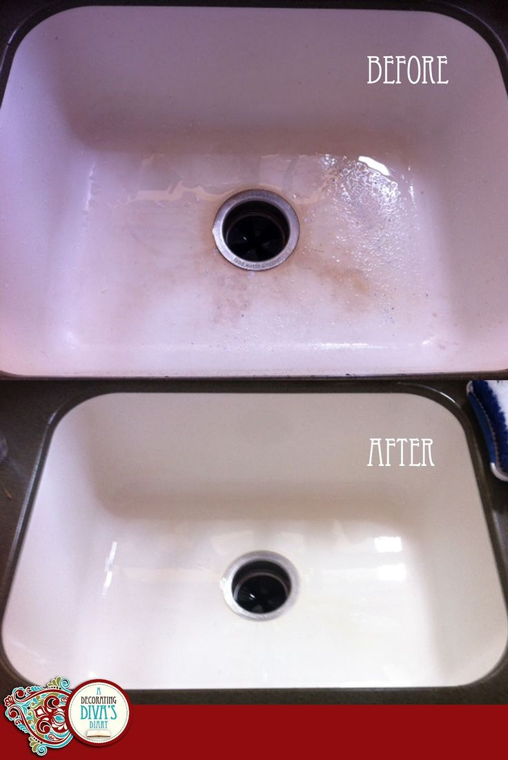 How to get your sink bright white again! This one really works...can't believe I've been living with my sink stains, this is so easy!: Divas Diaries, Diaries Mi Embarrassing, Clean Kitchens Cabinets, Decor Divas, Embarrassing Kitchens, Sinks Clean, Dear Diaries Mi, Clean Kitchens Sinks, Sinks Stained