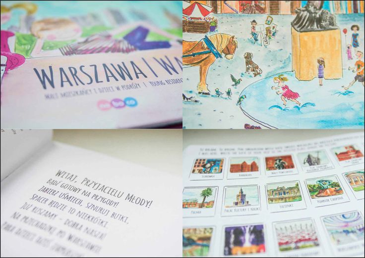 Warsaw for children Illustrations and book design  by Katarzyna Borek-Polkowska noboco.com.pl