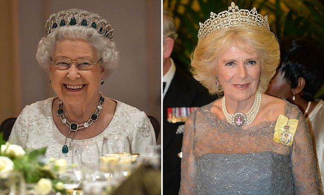 The Queen looked resplendent at the CHOGM Dinner at the Corinthia Palace Hotel The Duchess of Cornwall, Prince Charles and The Duke of Edinburgh were also in attendance.