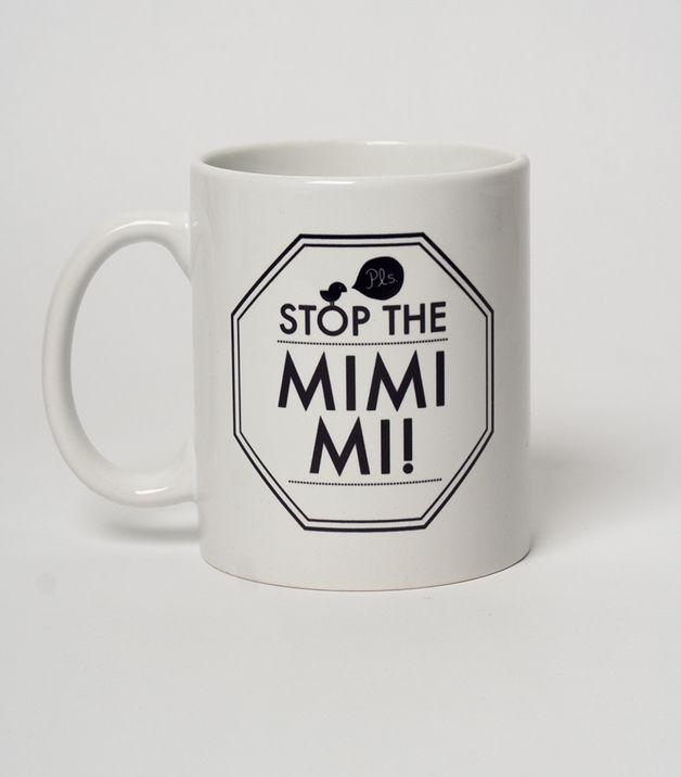 Kaffeebecher mit Typo / coffee mug, fun words, motivation by silberfischer via DaWanda.com