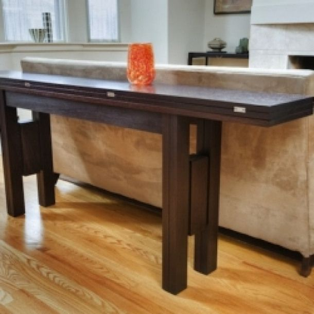 Transformer Table This Piece Is An Ultimate Small Space Hit It Can Be Used As A Consol Foldable Dining Table Expandable Dining Table Dining Table Small Space