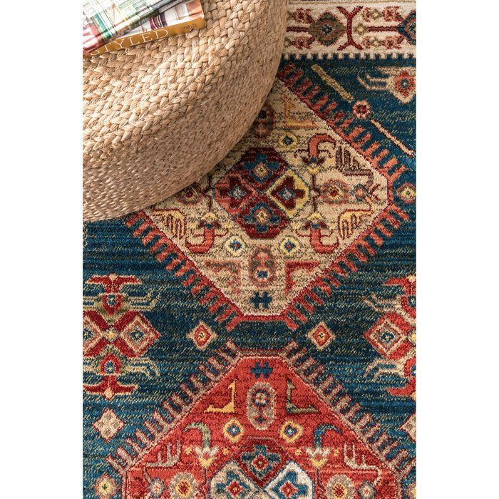 La Puente Blue Red Area Rug Area Rugs Rugs Usa Rugs