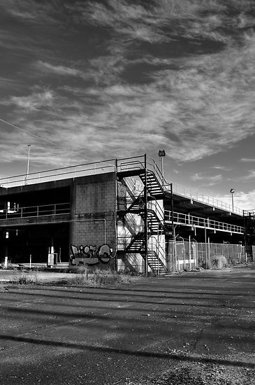 Original photographic image shot in Port Melbourne, 2011.  #urban #industrial #carpark #photography  This work can be purchased as a print at redbubble.com