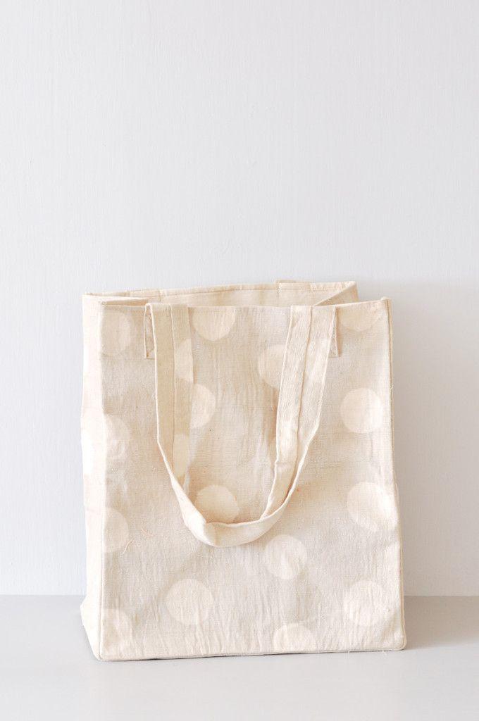 Gray Dot Tote Bag by Koromiko
