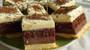 Receptnapló: Habos csokis-vaniliakrémes kocka