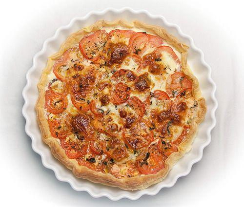 Tarte à la tomate et mozzarella // Tomato and mozzarella tart