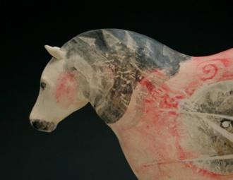 Hand Painted Ceramic Horse by Rachel Ricketts The Orange Street GalleryCeramics Horses