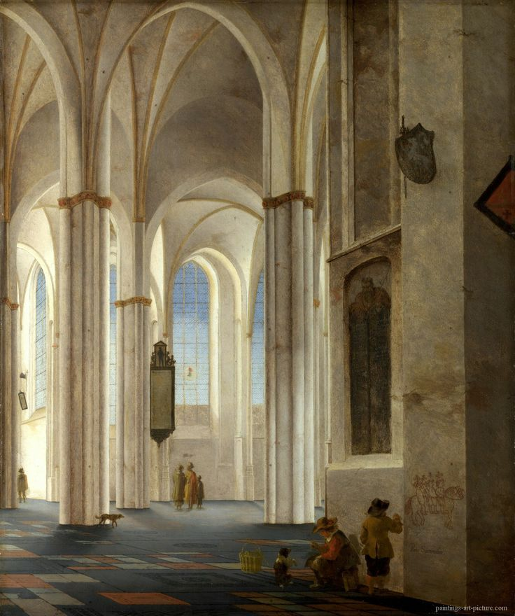 Pieter Saenredam, 'Interior of the Buurkerk', Utrecht, 1645. One of my favorite Dutch painters.