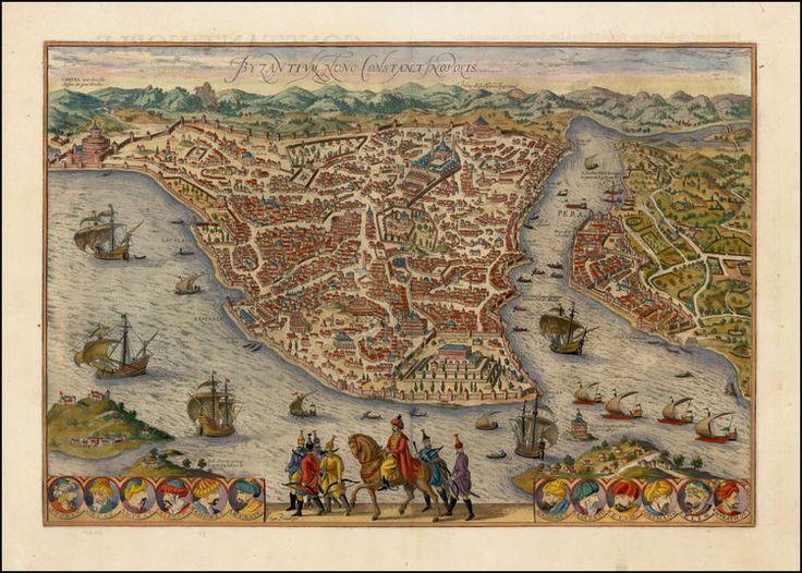 Byzantium Nunc Constantinopolis - Barry Lawrence Ruderman Antique Maps Inc.