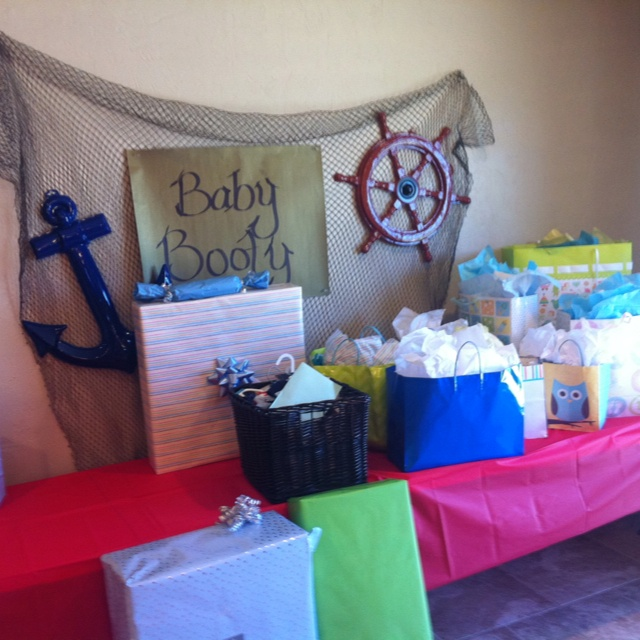 I wanna put the baby booty sign over the diaper party (like for the baby booty... and have diapers underneath LOL)