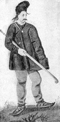 Секейский крестьянин. Венгерская миниатюра 1600 г.
