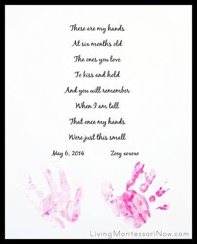 Handprint Keepsake For Mother S Day Father S Day Or