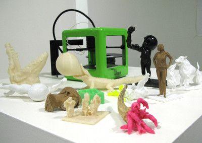 M3D printer with 3D prints by Jean-Sebastien Gautier.