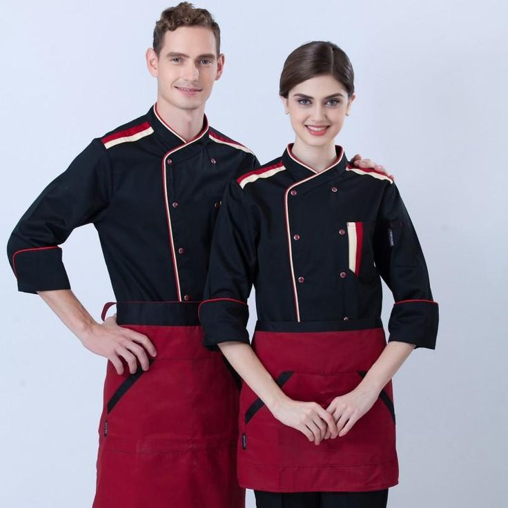 Fall and winter clothes long-sleeved chef service hotel restaurant chef uniforms kitchen chef uniforms YF42