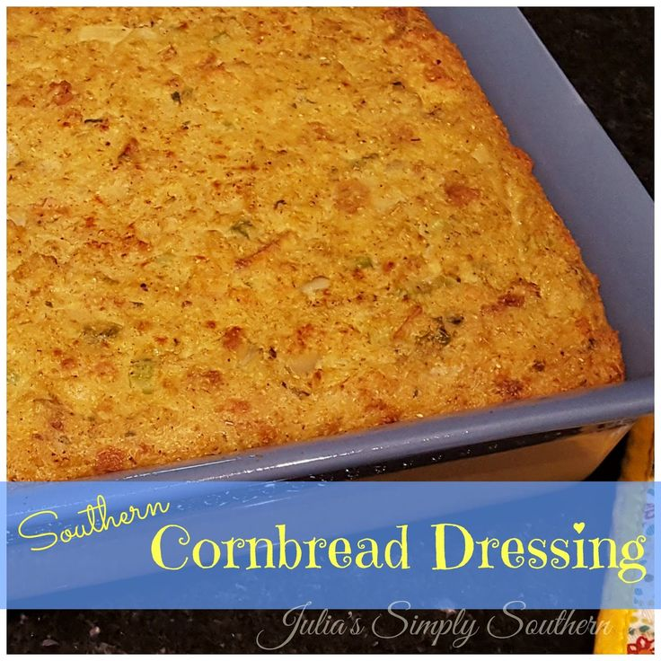 Southern Cornbread Dressing, Stuffing, Dressing, Thanksgiving, Christmas, Traditional, Southern Cooking, Turkey