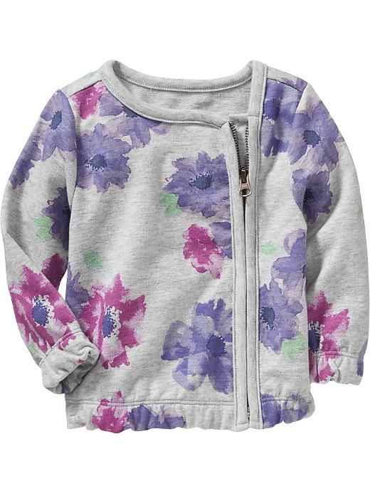 Floral Terry-Fleece Jackets for Baby
